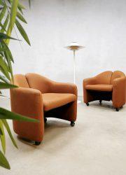 Midcentury Italian design easy chairs clubstoel PS142 Eugenio Gerli Tecno