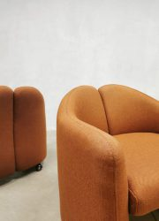 Midcentury Italian design easy chairs clubstoelen Eugenio Gerli Tecno