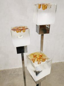 Midcentury Italian design Space Age floor lamp vintage vloerlamp Mazzega