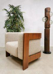 Midcentury Italian design armchair easy chair lounge fauteuil