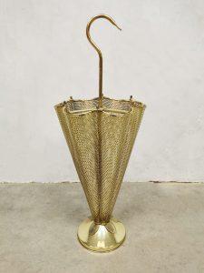 vintage paraplu standaard umbrella stand brass