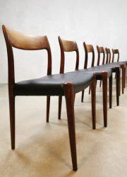 Midcentury dining chairs eetkamerstoelen Niels O Moller Møbelfabrik