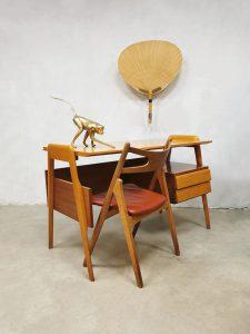Midcentury Italian vintage design writing desk bureau Vittorio Dassi