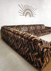 brown velvet shades geometric sofa bank lounge set seating group