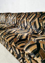 Midcentury design modular sofa elementen bank 'Caramel elegance'