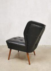 vintage sixties expo chairs cocktail stoelen clubfauteuils black Artifort