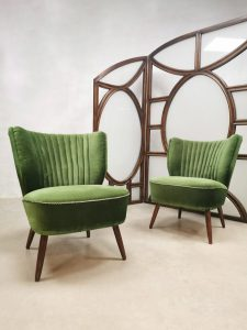Vintage cocktail chairs clubfauteuils cocktail stoel 'Greenhouse'