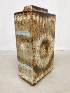 Vintage design ceramic keramiek vaas Art vase 'Fat lava' XXL