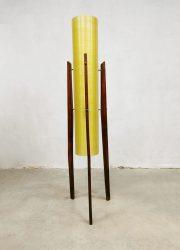 Vintage design tripod rocket floor lamp driepoot vloerlamp Novoplast