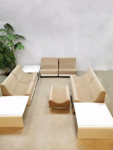Vintage modular sofa modulaire bank seating group Luigi Colani voor Cor