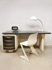 Vintage Space Age 'Jet' writing desk bureau Ernest Igl for Bayer AG Futuristic