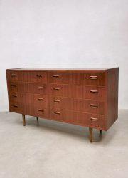 Midcentury Danish design double chest of drawers teak ladenkast Deens