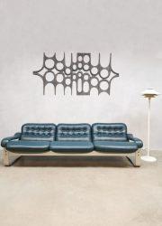 Asko stijl sofa bank 3 zitter leather Ilmari Lappalainen