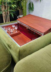 vintage retro Grundig radio meubel midcentruy design hoek tafel table