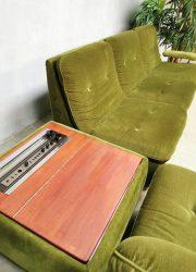 vintage retro velvet lounge bank modulair modular sofa bohemian