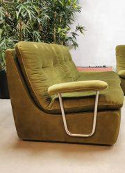 vintage design retro hoek bank lounge sofa velvet jaren 60 70 bohemian vibes