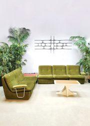 Midcentury modulaire elementen bank modular sofa radio corner 'Green spirit'