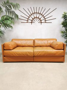Vintage Swiss design leather modular sofa lounge bank DS-76 De Sede