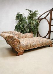 Midcentury French daybed sofa chaise longue 'Art deco floral'
