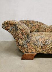 vintage sofa chaise longue daybed floral dessin