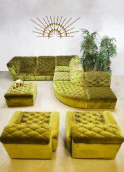 Midcentury design modular sofa elementen bank Laauser 'Bright green'