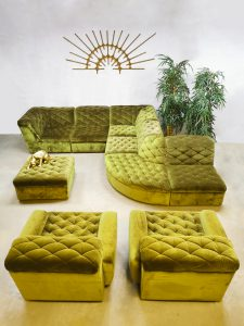 Midcentury design modular sofa elementen bank Laauser 'Bright green'