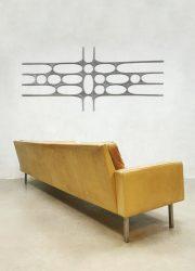 midcentury BZ55 Sofa by Martin Visser for T Spectrum leather zandkleurige leren bank