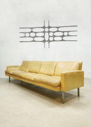 Vintage Dutch design leather sofa bank Martin Visser T Spectrum 'BZ55'