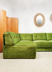 groene elementen bank vintage design jaren 70 sofa