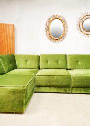 Midcentury design modular sofa elementen bank modulaire bank velours retro