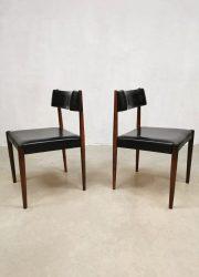 Midcentury design dining chairs eetkamerstoelen Aksel Bender Madsen Bovenkamp
