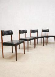 Vintage diningchairs eetkamerstoelen Aksel Bender Madsen voor Bovenkamp jaren 60 danish design deens ontwerp