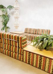 Vintage modulaire bank lounge sofa daybed fauteuil bank Hukla design German
