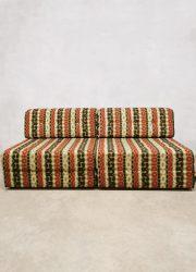 midcentury modular lounge set daybed elementen bank 'Groovy Sixties'
