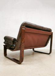 vintage retro boho lounge bank leather sofa sixties seventies design