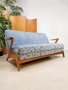 Danish vintage design Z shape sofa Deense bank Kurt Østervig 'floating armrests'