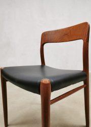 Vintage Deense eetkamerstoelen dining chairs Niels O Moller model 75 teak