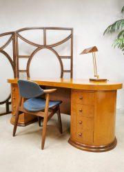 art deco stijl bureau writing desk Dick Dankers 1990 Dutch