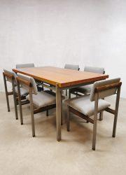 Pali Webe Louis van Teeffelen eetkamertafel dining table eetkamerstoelen 1966 vintage dinner chair dining chairs