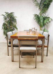 Pali Webe Louis van Teeffelen eetkamertafel dining table eetkamerstoelen 1966 dining chairs