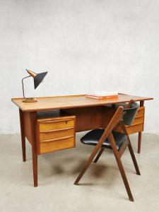 Danish midcentury design desk teak bureau Peter Lovig Nielsen