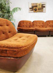 seventies vintage retro modular sofa chair Teddy lounge set