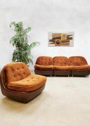 Vintage design sofa & chair lounge bank 'Teddy'