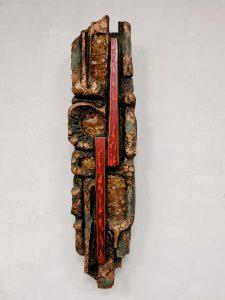 Midcentury brutalist wall sculpture lamp 60's wandlamp 'Enlighten'
