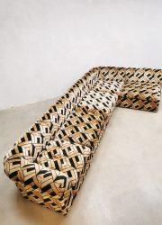 Vintage design modular sofa elementen bank 'Pattern velvet de luxe'
