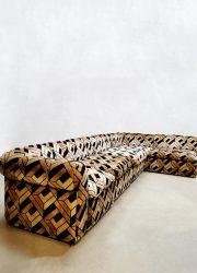 vintage velours elementen bank lounge sofa modular velvet design