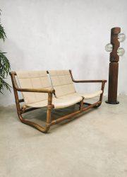 vintage rotan rattan bamboe bamboo sofa bank