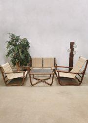 vintage design lounge set eclectic ibiza lounge set indoor outdoor bamboo bamboe