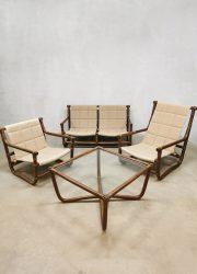 vintage boho lounge set bamboe rattan bamboe rotan