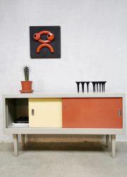 Vintage Industrial sideboard cabinet dressoir Ahrend de Cirkel 'minimalism'